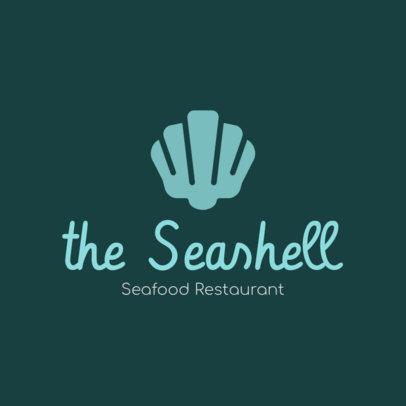 Restaurant Logo Creator with a Clam Clipart 1801j 122-el
