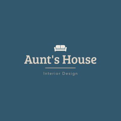 Interior Design Logo Maker with a Vintage Style 1330m 121-el