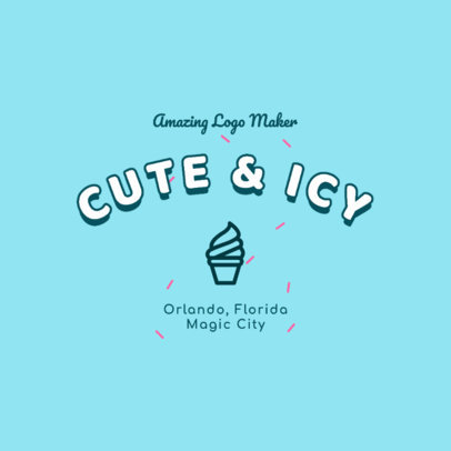 Fun Logo Maker with an Ice-Cream Cone Icon 2736h