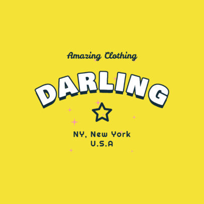 Clothing Brand Logo Maker Featuring Twinkling Star Graphics 2736d
