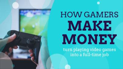 YouTube Thumbnail Template for Gaming Streamer Tips