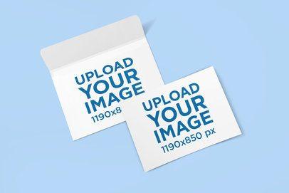 Mockup of a Horizontal Postcard and an Envelope 1124-el