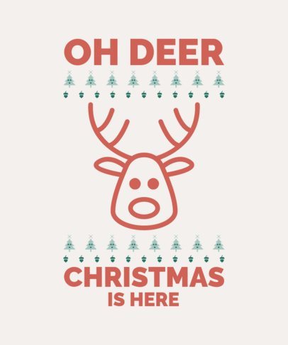 Funny Christmas T-Shirt Maker with a Deer Icon 52b-el