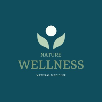 Alternative Medicine Logo Design Template for a Wellness Center 1294f-213-el