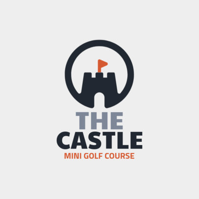 Mini Golf Logo Maker with a Castle Clipart 1558g-214-el