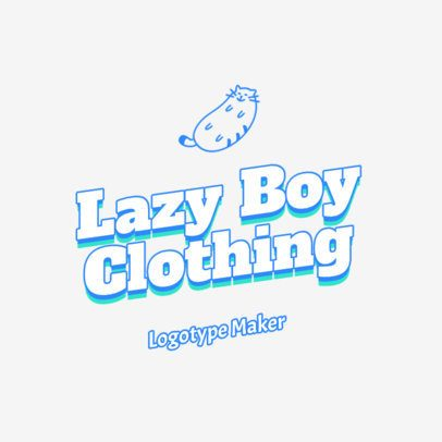 Sticker-Style Logo Template for Clothing Brands 2735d