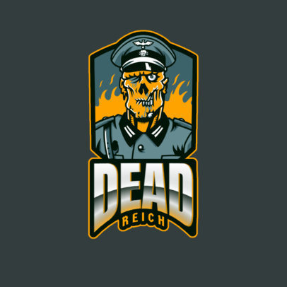 COD-Inspired Gaming Logo Template with a Military Zombie Character 2734b