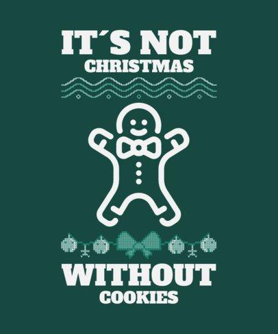 Funny T-Shirt Design Maker Featuring a Gingerbread Man Silhouette 52d 228-el