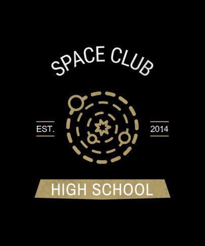 T-Shirt Design Maker for a Space Club 484m 255-el