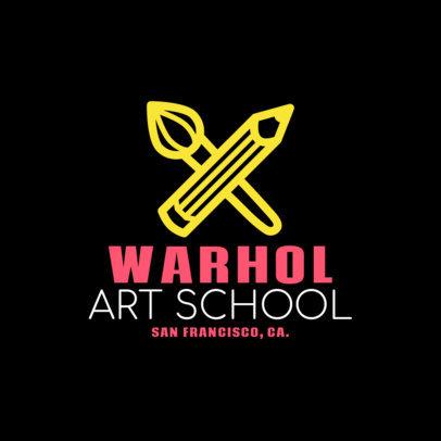Online Logo Creator for an Art School 1087g 255-el