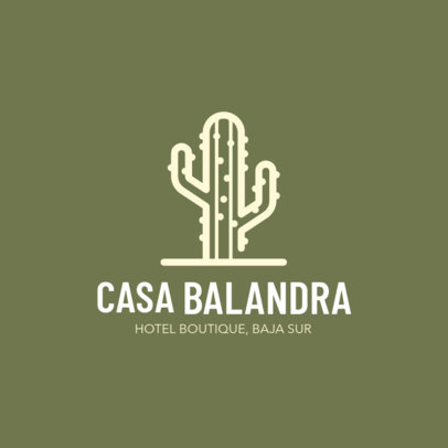 Simple Logo Design Template for a Hotel Boutique 1762j-203-el