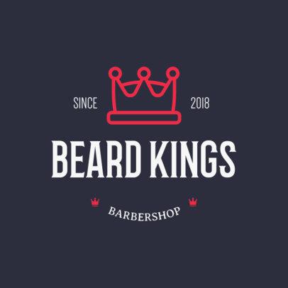 Online Logo Maker for a Barbershop Featuring a Crown Clipart 1123f 209-el