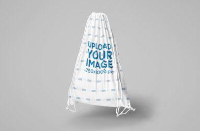 Mockup of a Drawstring Bag in a Studio 820-el