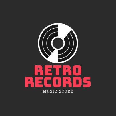 Music Store Logo Maker with a Vinyl Clipart 1136i 200-el