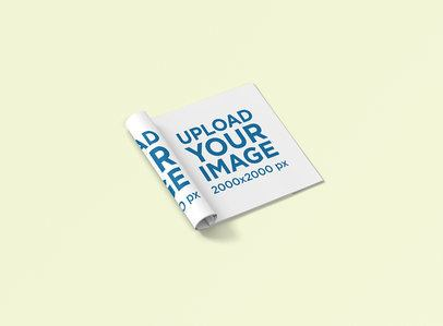 Mockup of a Squared Magazine with a Folded Page 1176-el
