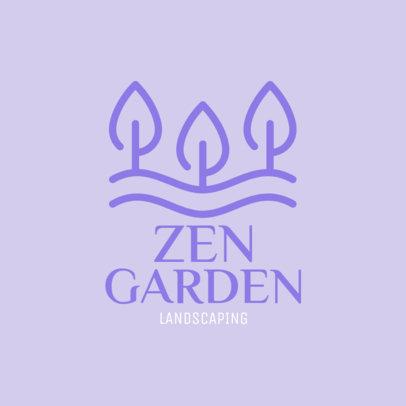 Landscaping Logo Generator for a Zen Garden Maker 1435k-212-el