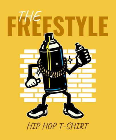 Hip-Hop Style T-Shirt Design Template 2023