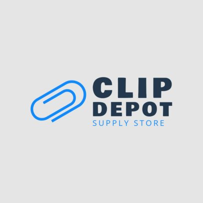 Supply Store Logo Design Template with a Clip Icon 1380h-215-el