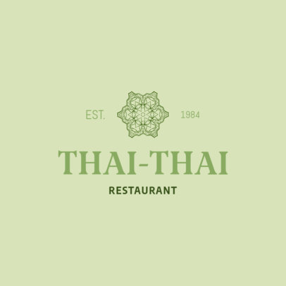Minimalist Logo Design Maker for a Thai Restaurant 1846f-233-el
