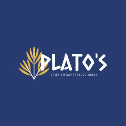 Logo Template for a Traditional Greek Food Restaurant 1912f-2660