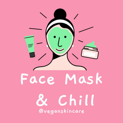 Instagram Post Generator Featuring a Woman with a Face Mask on 2024b