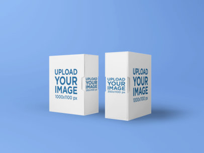 Mockup of Two Boxes Placed Next to Each Other 1614-el