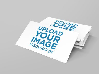 Mockup of a Bunch of Horizontal Business Cards with Customizable Background 1560-el