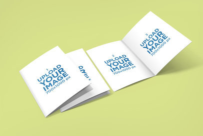 Mockup of Three Greeting Cards Placed Over a Plain Surface 1608-el