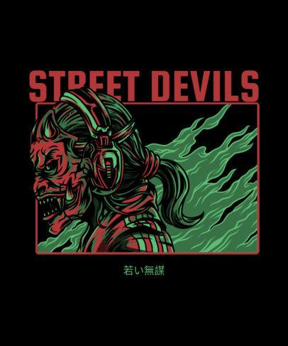 T-Shirt Design Creator Featuring an Urban Devil 4c-el