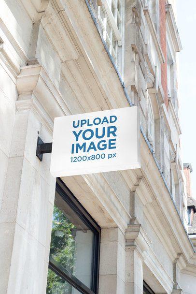 Mockup of a Building Sign 1409-el