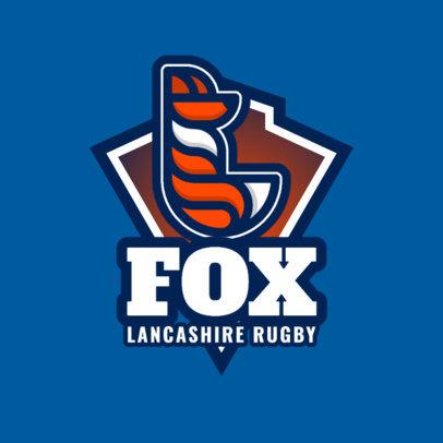 Logo Maker for a Rugby Team with a Minimalistic Fox Icon 1617f-333-el