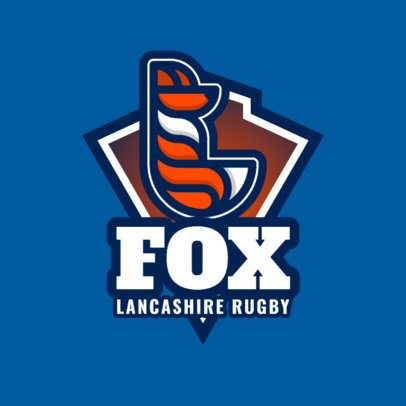 Logo Maker for a Rugby Team with a Minimalistic Fox Icon 1617f-333-el