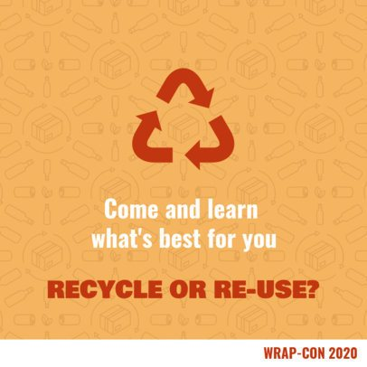 Facebook Post Template for a Post About Recycling 2029b