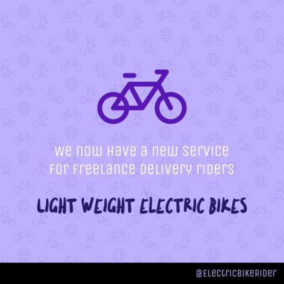 Facebook Post Template About Electric Bikes 2029c