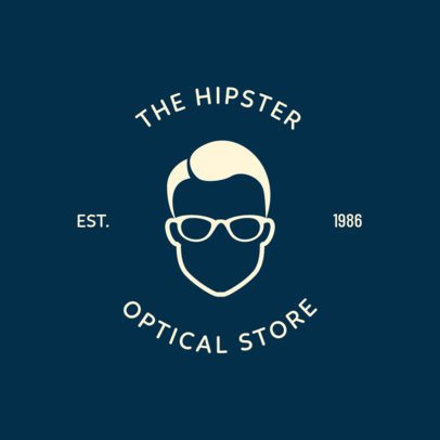 Logo Design Maker for a Hipster Optical Store 1370g-282-el