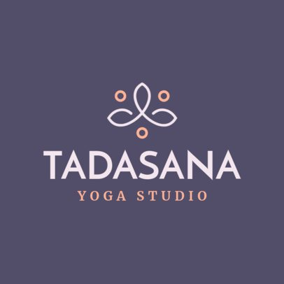Yoga Studio Logo Design Maker with an Abstract Icon 1296f-211-el