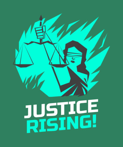 T-Shirt Design Creator Featuring a Lady Justice Illustration 2040k