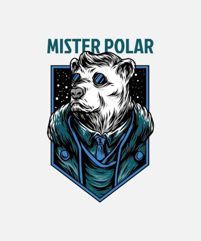 T-Shirt Design Maker Featuring a Mister Polar Bear Illustration 33c-el
