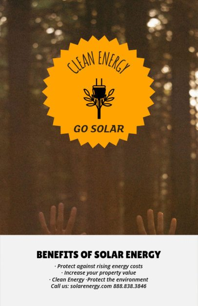 Design Template for an Online Flyer About Clean Energy 194i-2030