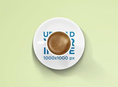 Plate Mockup Featuring an Espresso Cup 1456-el