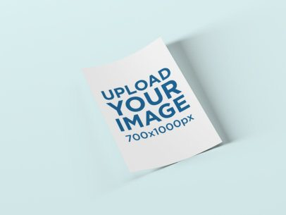 A4 Flyer Mockup with a Plain Color Backdrop 1583-el