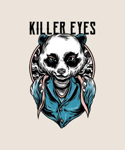 Street Art Style T-Shirt Design Maker with a Panda Character 33g-el