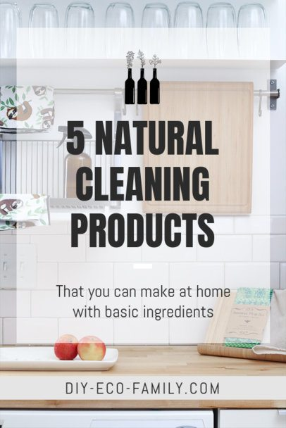 Pinterest Pin Maker for Natural Cleaning Products 2031a