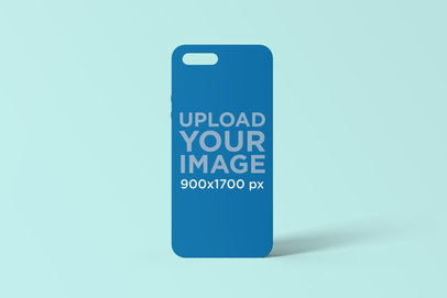 Mockup of a Phone Case Standing on a Solid Surface 1399-el