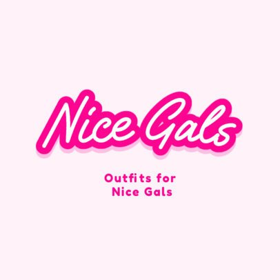 Clothing Brand Logo Maker with a Girly Type 2750d