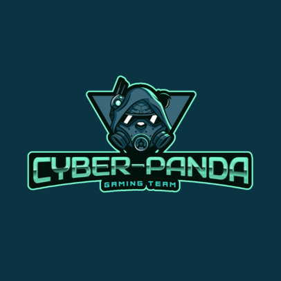 Logo Creator with a Gas-Masked Panda for Gaming Teams 2755b