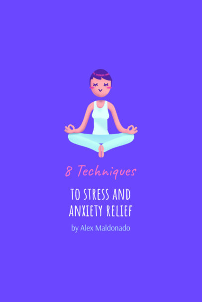 Wellness Pinterest Pin Maker Featuring a Meditating Woman Illustration 2025a
