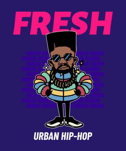 Urban-Styled T-Shirt Design Maker of a Hip-Hop Singer Graphic 2023f