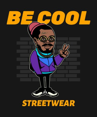 T-Shirt Design Creator Featuring a Stylish Man Illustration 2023g