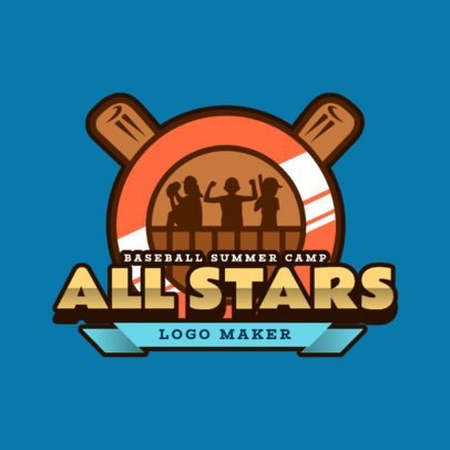 Logo Maker for a Baseball Kids Summer Camp 2753c